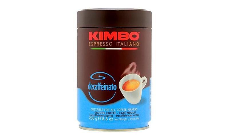 Молотый кофе Kimbo Decaffeinato ж/б 250 гр