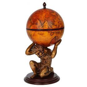 Глобус бар напольный Jia Fo Мир в руках Атланта 42016R