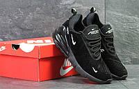 Мужские кроссовки черные Nike Air Max 270 демисезонные повседневные кроссовки в стиле найк темного цвета