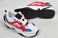 Nike М2K Tekno женские кроссовки белые с синим (Реплика ААА+), фото 1