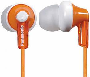 Навушники вакуумні дротові без мікрофона Panasonic RP-HJE118GU-D Orange