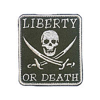"Патч на липучке ""Calico Jack"" ""LIBERTY OR DEATH"""