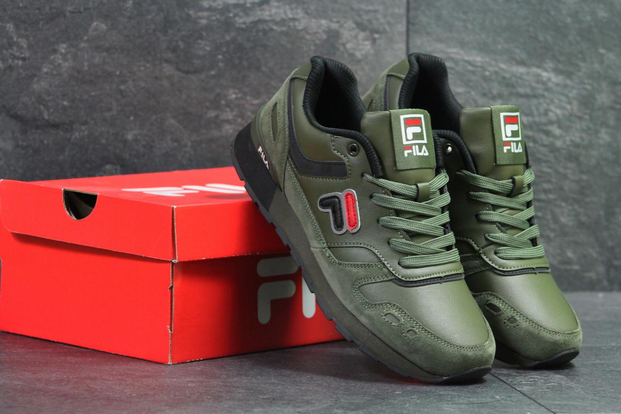 Мужские кроссовки Fila оригинальные стильные популярные, фила на каждый день осенние (зеленые), ТОП-реплика