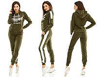 60353894bdb5ce Спортивный костюм для женщин с батником и широкими полосами по бокам