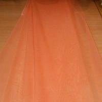 Тюль, шифон однотонный персиковый