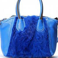 Женская сумка в стиле Givenchy голубого цвета
