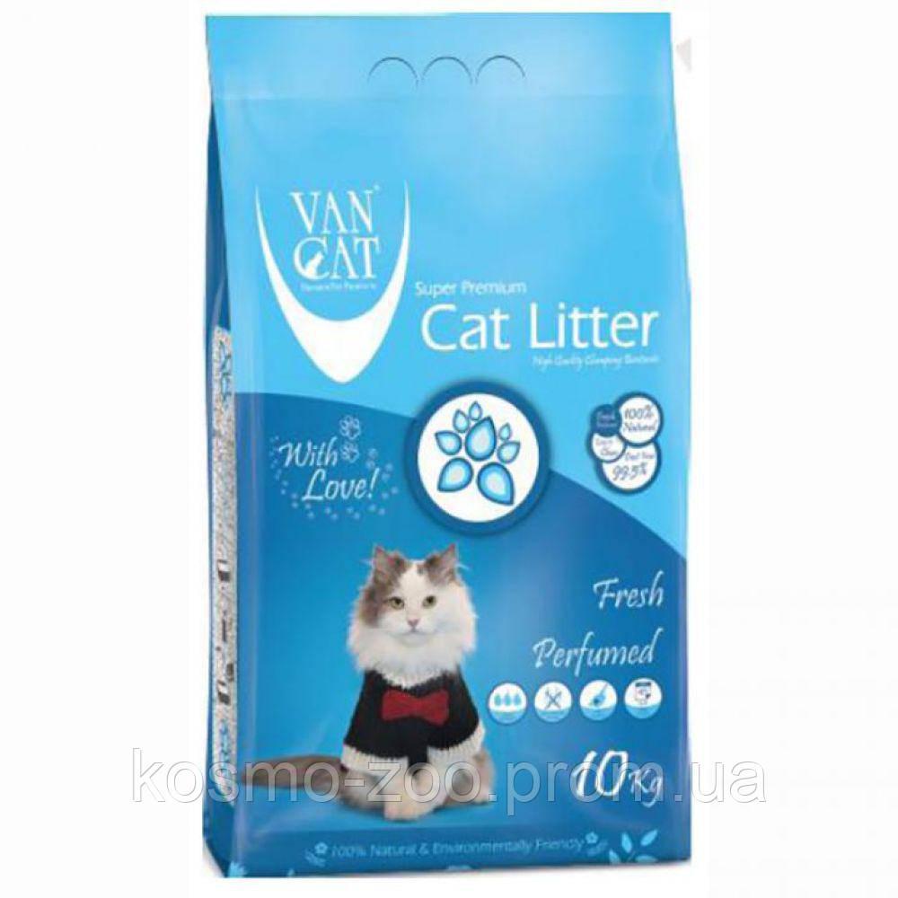 VanCat (ВанКэт) Fresh наполнитель для туалета бентонитовый, 10 кг