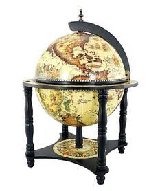 Глобус бар настольный Jia Fo диаметр 33 см 33006 WB