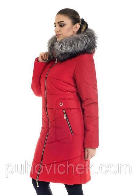 Красивая куртка зимняя женская теплая