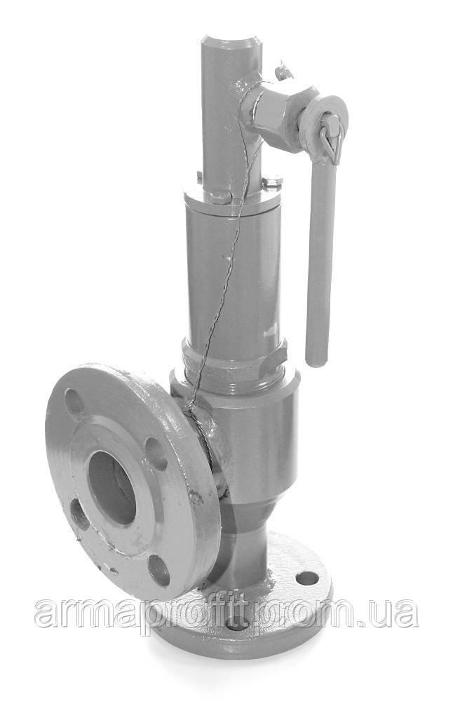 Клапан предохранительный пружинный фланцевый СППК 4Р Ру16 Ду25/25 (Украина)