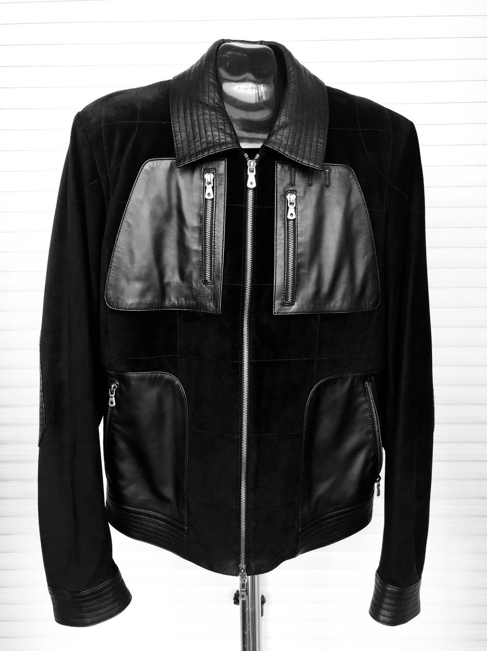 Куртка мужская кожа/замша натуральная короткая