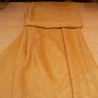 Тюль, шифон однотонный светло-коричневый