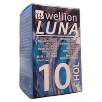 Тест-полоски Wellion Luna №10 chol (холестерин)
