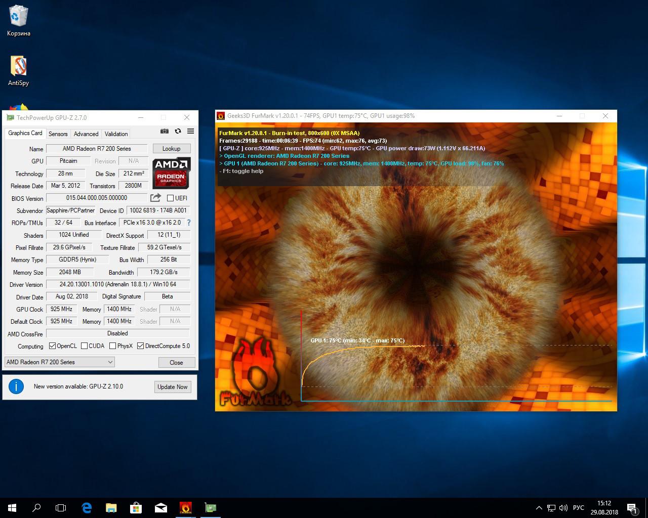 AMD Radeon R7 265 2Gb 256bit Sapphire, видеокарта видеоконтроллер для игр,  hd7950 hd7870 270x 280x gtx1050 - Bigl ua