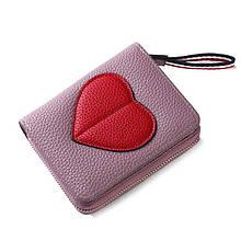 Женский кошелек BAELLERRY Ladies Wallet кожаное портмоне на молнии Светло-фиолетовый (SUN0554)