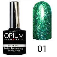 Гель лак Opium Daimond №1 8 мл