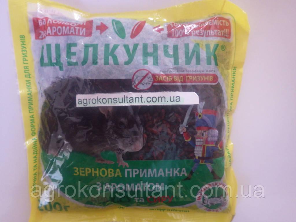 Щелкунчик зерно, 200 г — готовая к применению приманка для уничтожения крыс и мышей с ароматом арахиса и сыра