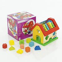 """Деревянная игра """"Дом-логика"""" для обучения детей, в коробке"""