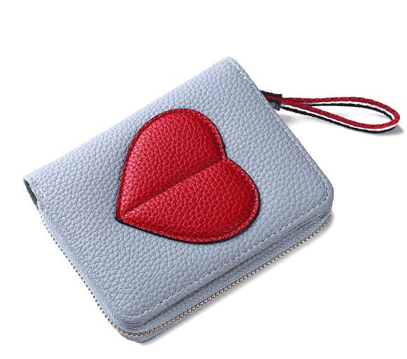 Женский кошелек BAELLERRY Ladies Wallet кожаное портмоне на молнии Голубой (SUN0555)