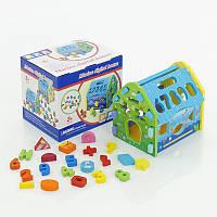 """Деревянная развивающая игра для детей """"Домик"""", в коробке, цифры, фигурки"""