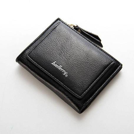 Женский кошелек BAELLERRY Casual Mini кожаное портмоне на кнопке Черный (SUN0556) , фото 2