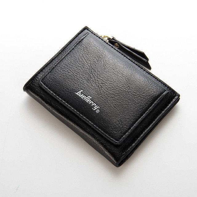 Женский кошелек BAELLERRY Casual Mini кожаное портмоне на кнопке Черный (SUN0556)
