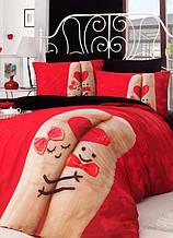 Постельное белье Charlot Home Finger kirmizy красный ранфорс евро