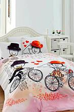 Постельное белье Charlot Home Humy pembe розовый ранфорс евро