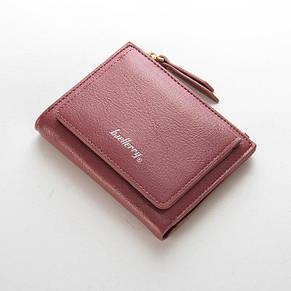 Женский кошелек BAELLERRY Casual Mini кожаное портмоне на кнопке Розовый (SUN0557) , фото 2