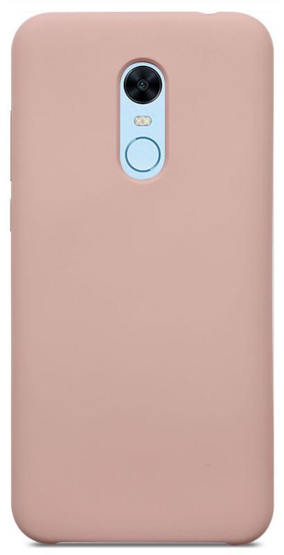 Чехол накладка DEF для Xiaomi Redmi 5 Aqua silicone (Силиконовый) Розовый