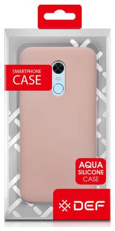 Чехол накладка DEF для Xiaomi Redmi 5 Aqua silicone (Силиконовый) Розовый, фото 2