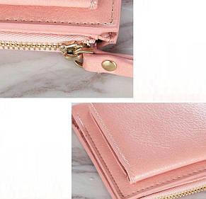 Женский кошелек BAELLERRY Casual Mini кожаное портмоне на кнопке Пудровый (SUN0558), фото 2