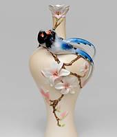 Фарфоровая ваза Pavone Голубая Сорока FM- 50
