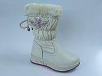 Качественная зимняя обувь от Kellaifeng. Зимние сапожки для девочки  (р. 27 - 17,5 см)