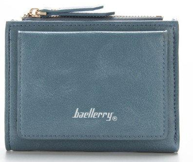 Женский кошелек BAELLERRY Casual Mini кожаное портмоне на кнопке Бирюзовый (SUN0560)