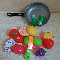 Продукты на липучке со сковородой | Детский игровой набор