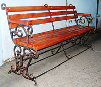 Кованая скамейка парковая