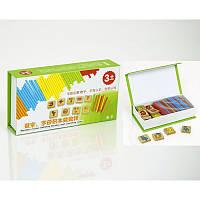 """Деревянная набор """"Считалочка"""",обучающая игра, палочки, цифры, в коробке"""