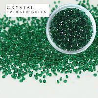 Стразы Crystal Pixie, Emerald Green, 1,1 мм, 0,5 гр