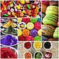 Сухой  пищевой  краситель Индия  для мастики крема и сладкой ваты желтый 10 г, фото 8