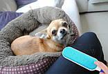 Щітка для видалення шерсті Reusable Pet Fur Remover With Self-Cleaning Base, фото 3