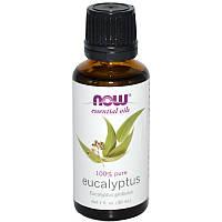 Эфирные масла, Эвкалипт, 30 мл, Now Foods, Essential Oils, Eucalyptus