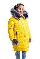 Зимняя куртка парка для девочки подростка от производителя  34-42 желтый