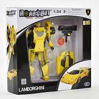 Робот-Трансформер LAMBORGHINI, робот-машина, 1:24, спецэффекты, в коробке