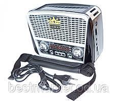 Радіоприймач GOLON RX-455S з сонячною батареєю FM/AM/SW, USB microSD(TF), LED ліхтарик