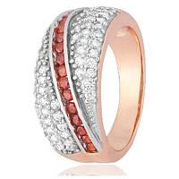 Позолоченое кольцо Диоро 585 пробы на серебре 925 пробы