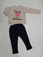 Костюм спортивный для девочки ТМ Breeze трикотаж размеры 80,86,92,98,104 Турция