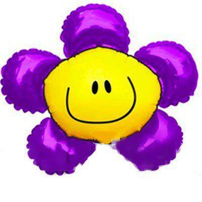 """Фольгированный шар Б/Ф """"Цветок фиолетовый"""""""