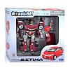 Робот-Трансформер Toyta Estima RoadBot, робот-машина, красный,  1:24, свет, в коробке