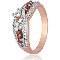 Позолоченое кольцо Дионисия 585 пробы на серебре 925 пробы